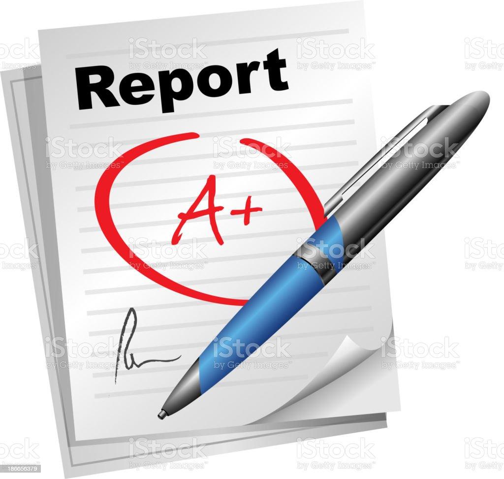 Report Card vector art illustration