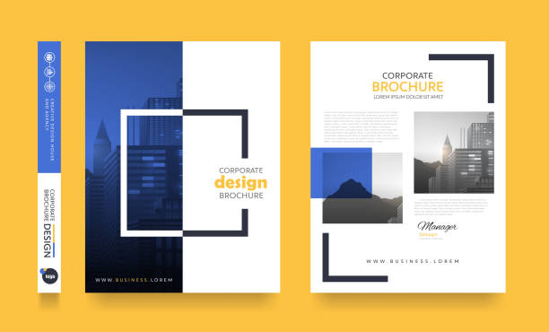 Report Cover 114 poster flyer pamphlet brochure cover design layout space for photo background, vector template in A4 size book drawings stock illustrations