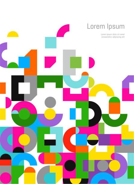 ilustraciones, imágenes clip art, dibujos animados e iconos de stock de plantilla de diseño de carátula del informe - plantillas de logotipos