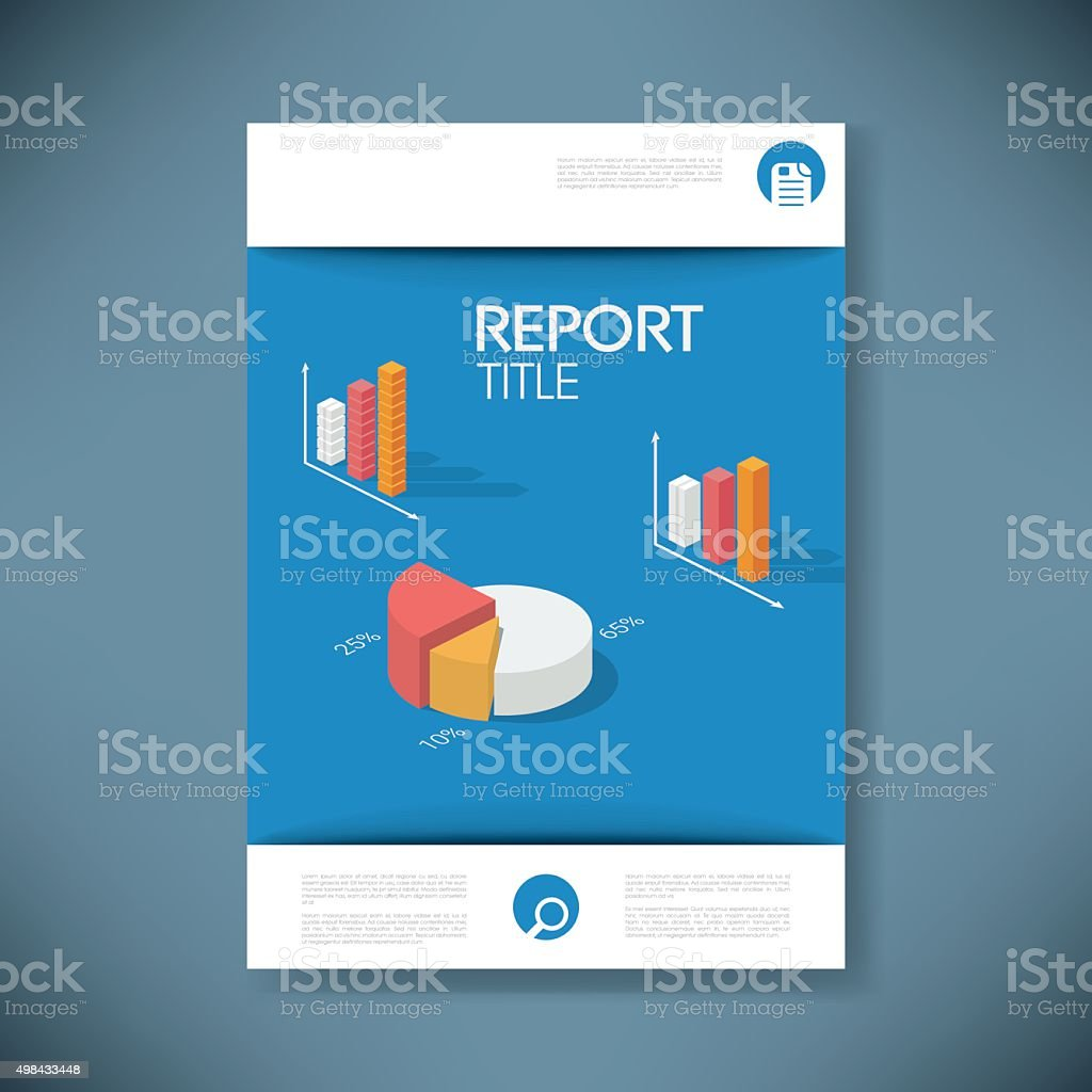 report cover template for business presentation or brochure pie, Presentation templates