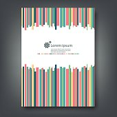 Report template colorful design