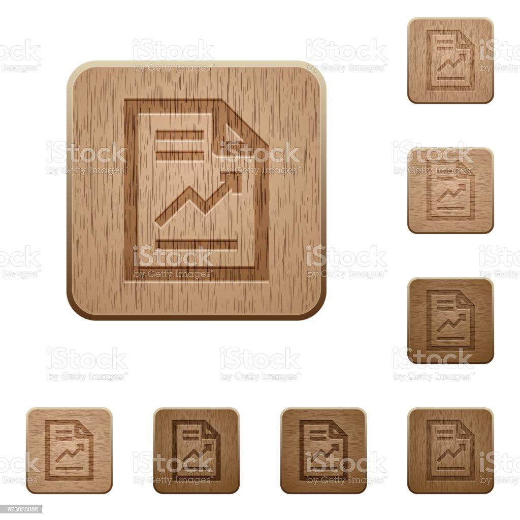 Boutons en bois de rapport boutons en bois de rapport – cliparts vectoriels et plus d'images de affaires libre de droits