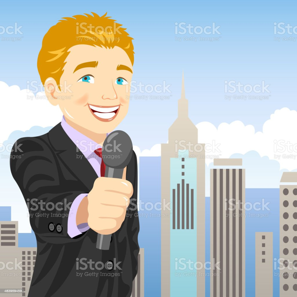 Reporter royalty-free stock vector art