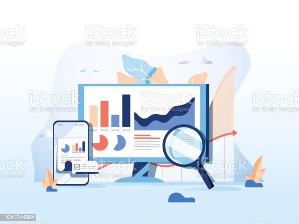 Reporting data monitoring web traffic analytics big data flat vector vector id1041244364?b=1&k=6&m=1041244364&s=612x612&h=du5qz7di091487kf2apdryis6gbjclmjb 8shx7rvao=