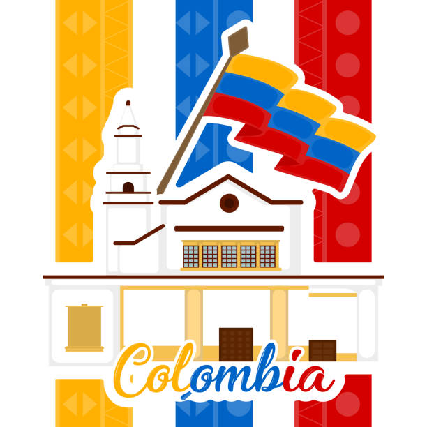 repräsentatives bild von kolumbien - cartagena stock-grafiken, -clipart, -cartoons und -symbole