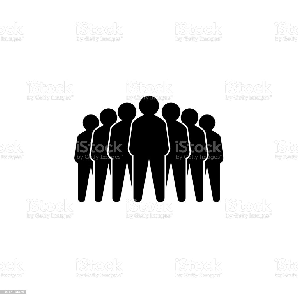 Representative of a group of people, leadership vector illustration concept. Leader vector icon. Leader single icon. vector art illustration
