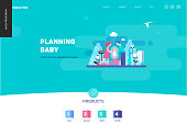 Reproduction - web page template on pregnancy and fertility