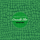 Reptile Alligator skin seamless pattern. Crocodile skin texture for textile design. Flat color style vector illustration.