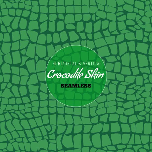 reptile alligator skin seamless pattern. crocodile skin texture for textile design. vector illustration. - crocodile stock illustrations
