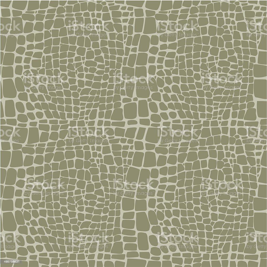 Patrón de vectores sin fisuras de la piel de reptil - ilustración de arte vectorial