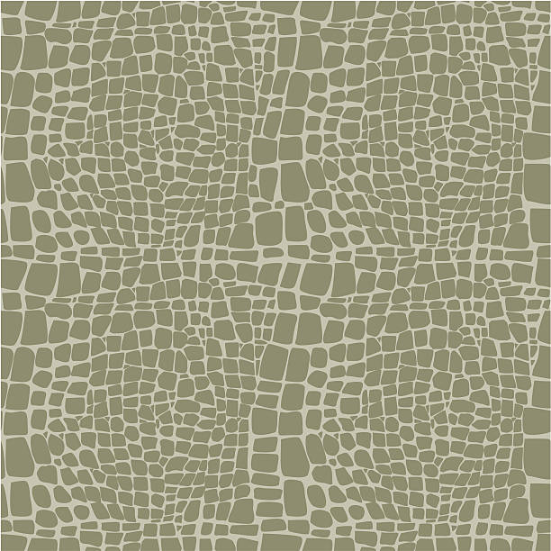 reptile skin seamless vector pattern - reptiles stock illustrations