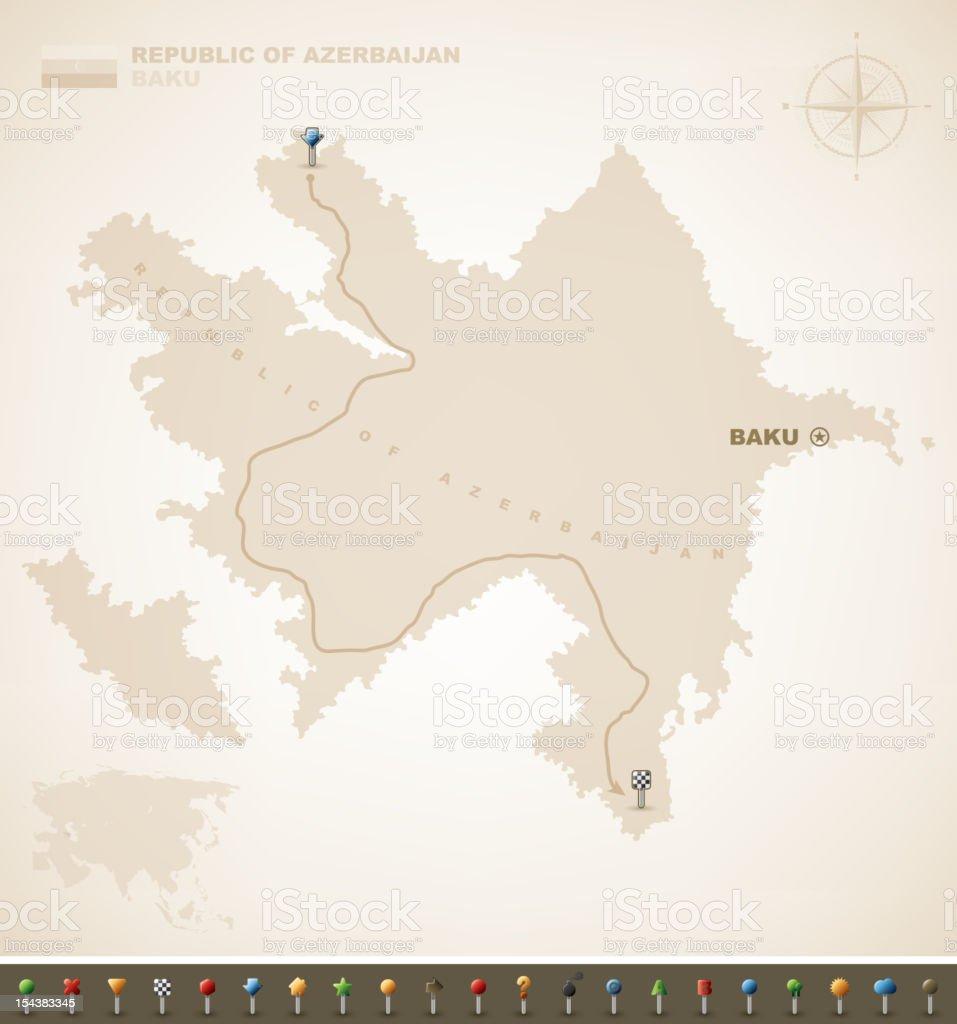 Republic of Azerbaijan vector art illustration