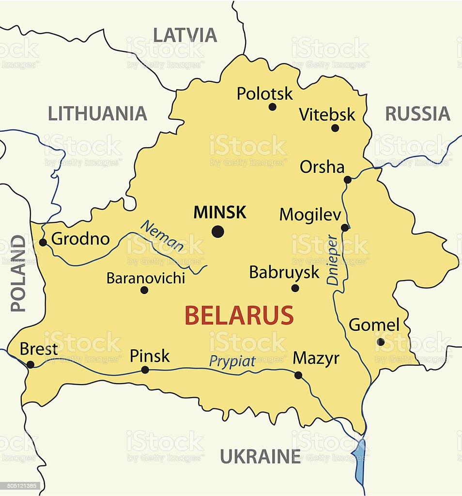Republic of Belarus - vector map vector art illustration