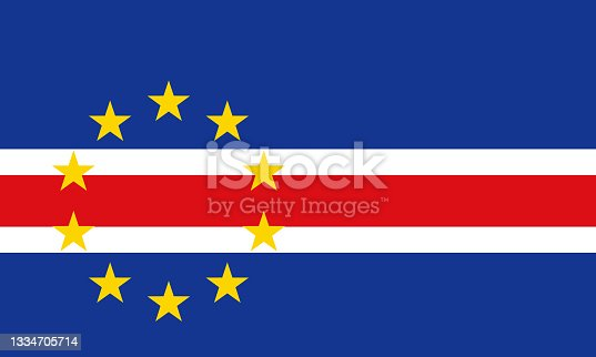 istock Republic of Cabo Verde (Cape Verde) African Country Flag 1334705714