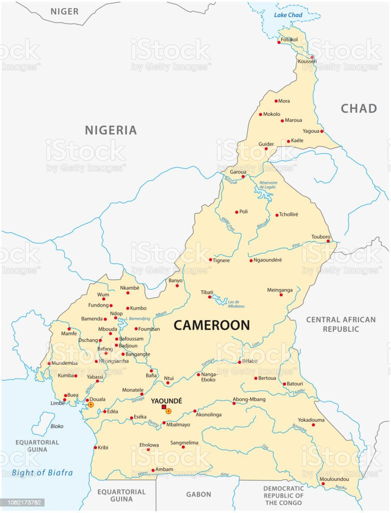 Republic Of Cameroon Map Stock Illustration - Download Image