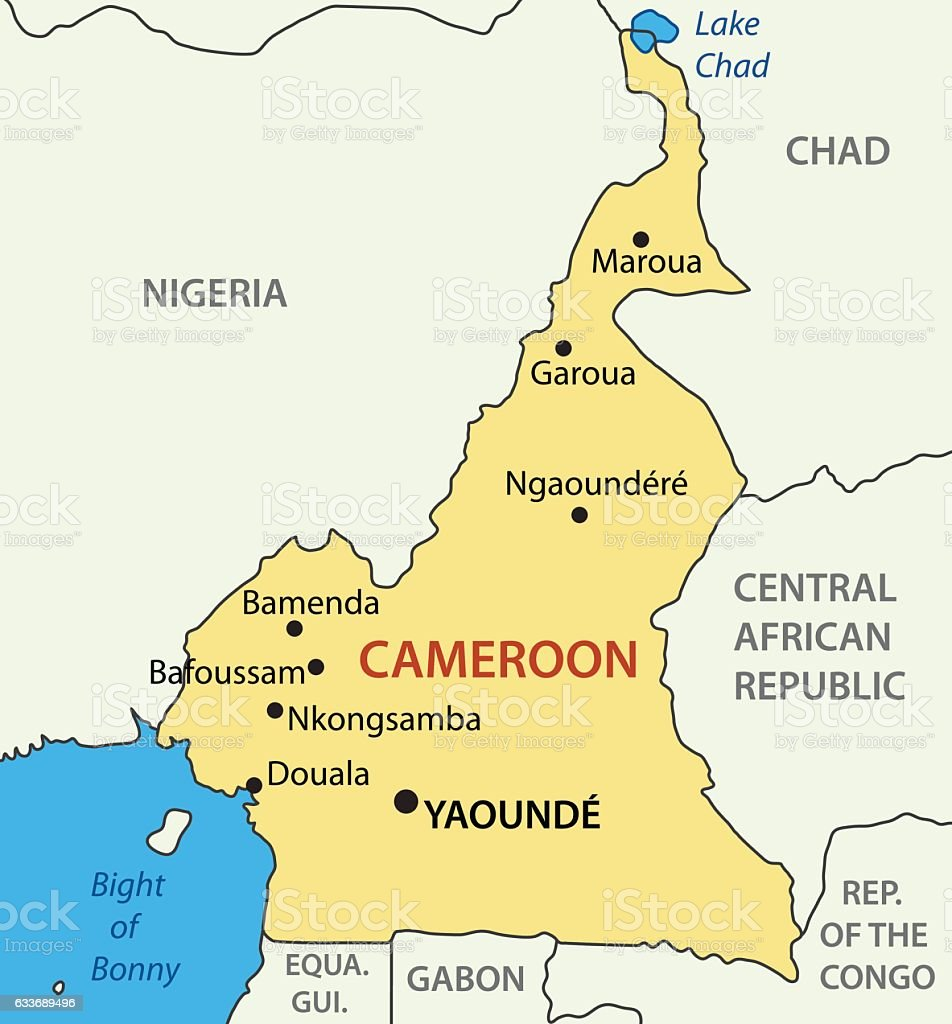 Republic Of Cameroon Vector Map Stock Vector Art More Images of