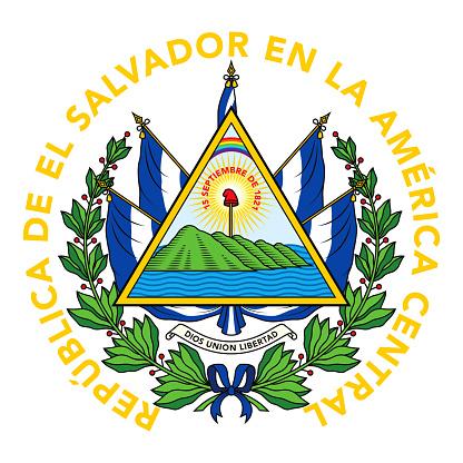 Republic of El Salvador Coat of Arms