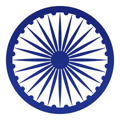Republic of India Ashoka Chakra Symbol