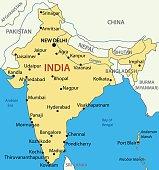 Republic of India - vector map
