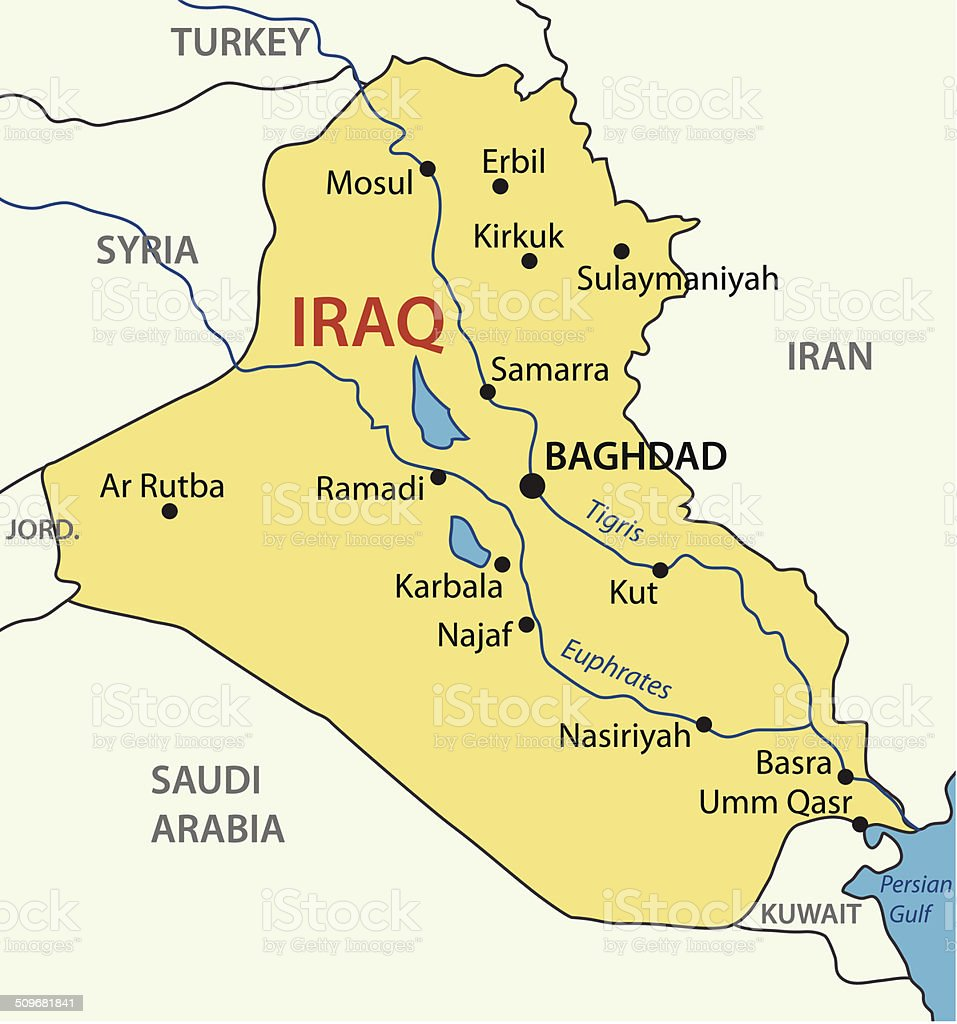 asia baghdad iraq map middle east
