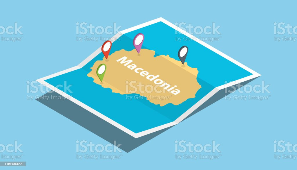 republic of macedonia explore maps country nation with isometric...
