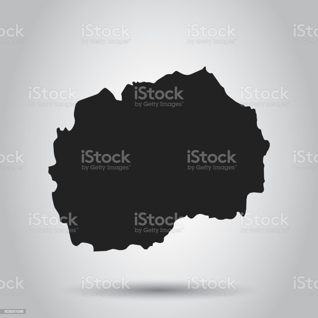 Republic of macedonia vector map black icon on white background republic of macedonia vector map black icon on white background royalty free republic gumiabroncs Images