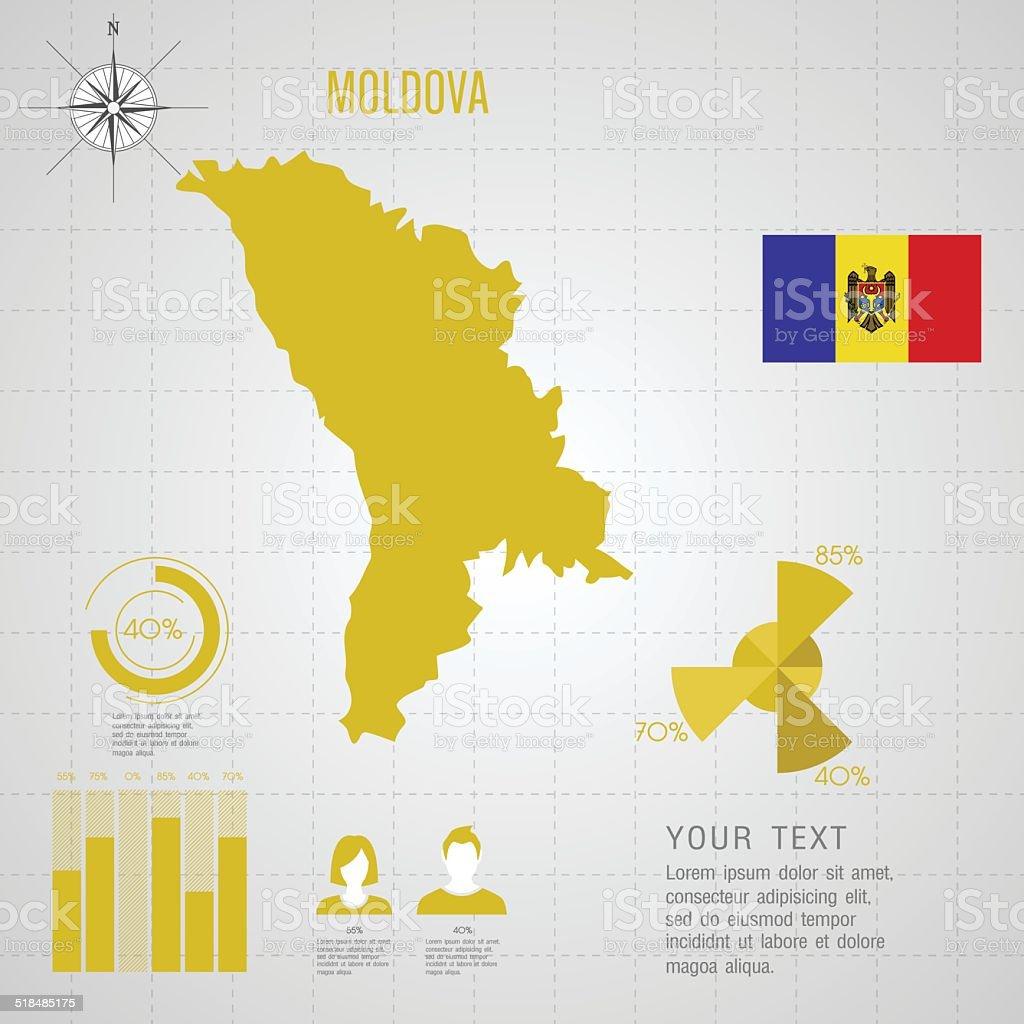Moldawien Karte.Republik Moldawien Karte Stock Vektor Art Und Mehr Bilder Von