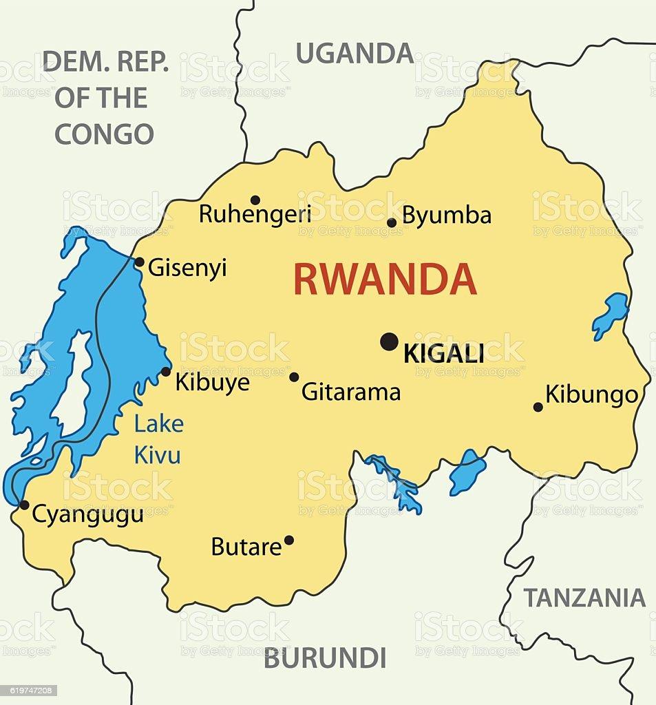 republic of rwanda vector map なわばり意識のベクターアート素材や