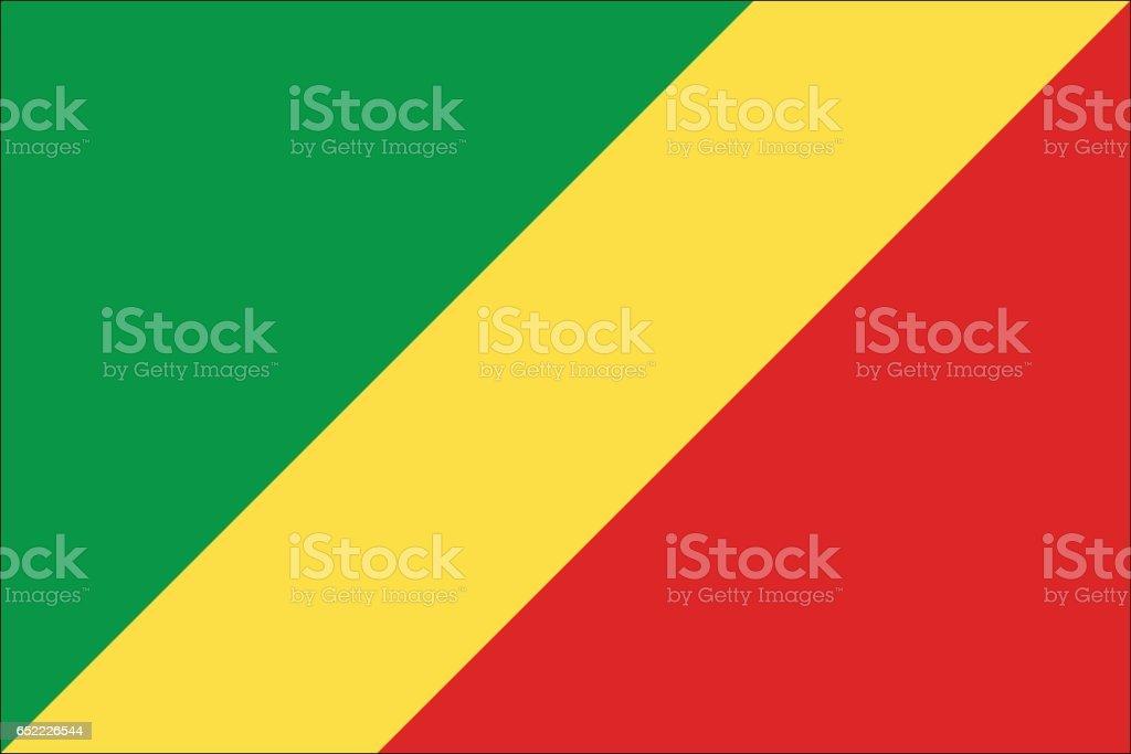 Republic of the Congo vector art illustration