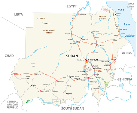 Republic Of The Sudan Road Map Stock Illustration - Download Image on atlas mountains map, egypt and sudan map, nile sudan map, damascus syria map, casablanca morocco map, accra ghana map, zambezi river africa map, south sudan region map, south sudan natural resources map, tehran map, istanbul turkey map, tripoli libya map, tel aviv map, dongola sudan map, nairobi map, riyadh map, nile river map, s. sudan map, mogadishu somalia map,