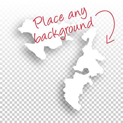 Republika Srpska Map for design - Blank Background
