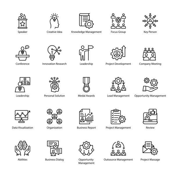 illustrazioni stock, clip art, cartoni animati e icone di tendenza di reputation management icons - focus group