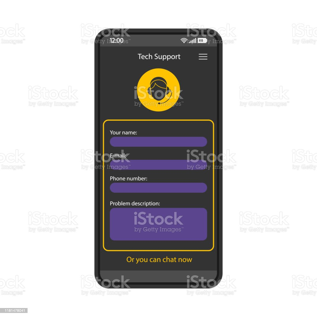 Request Help Form Smartphone Interface Vector Template Stock Illustration Download Image Now Istock