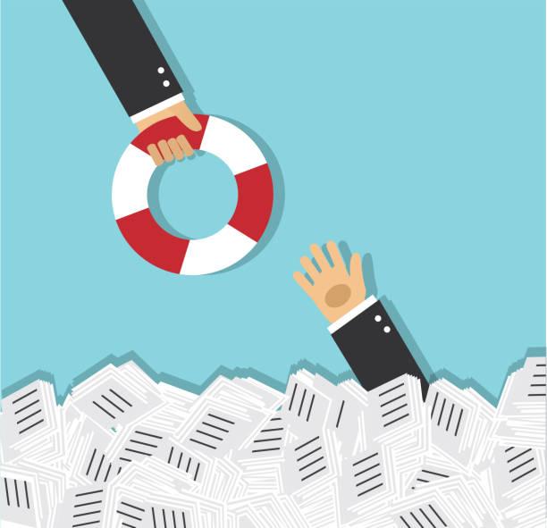 ilustrações de stock, clip art, desenhos animados e ícones de rescue and support in business - swim arms