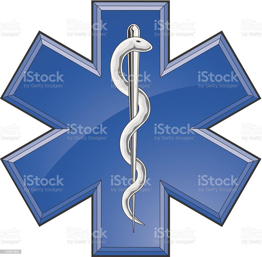 Resgate Paramédico logotipo médico - ilustração de arte em vetor