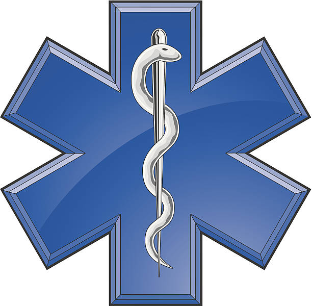 救助動物の歯医療ロゴ - 救急救命士点のイラスト素材/クリップアート素材/マンガ素材/アイコン素材