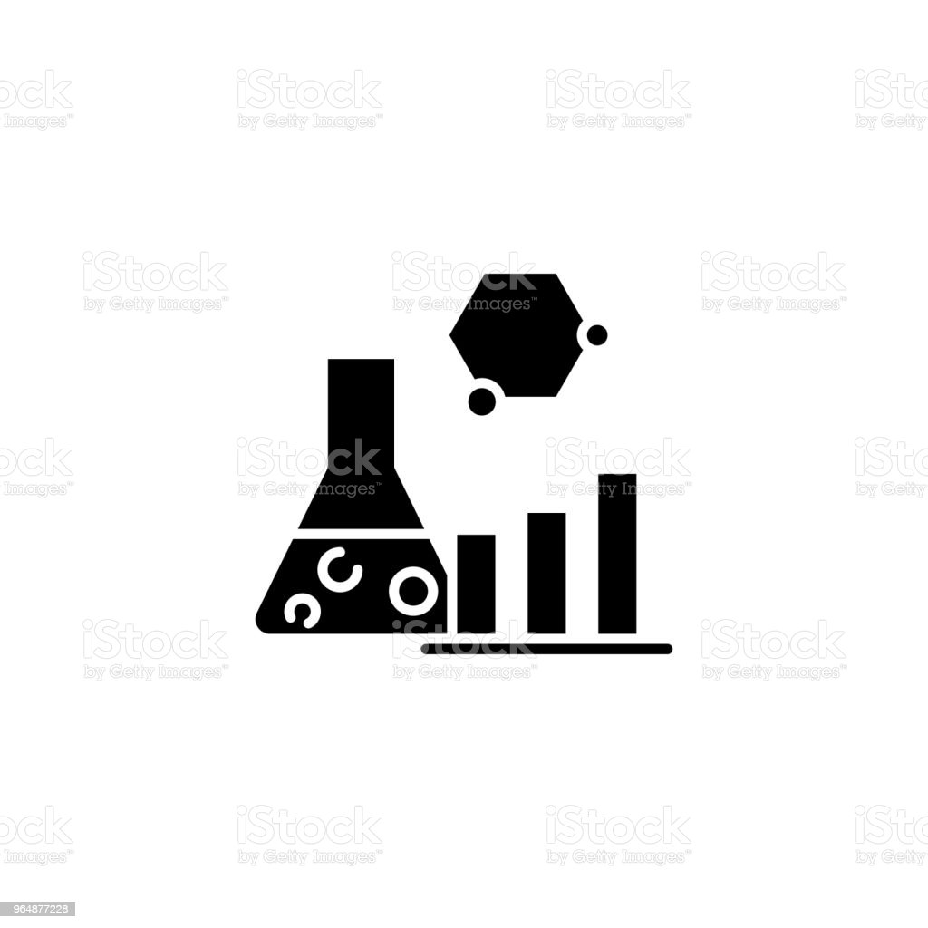 Research analysis black icon concept. Research analysis flat vector symbol, sign, illustration. royalty-free research analysis black icon concept research analysis flat vector symbol sign illustration stock vector art & more images of no people