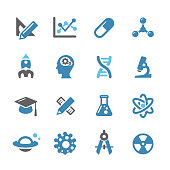 Research and Science Icons - Conc Series