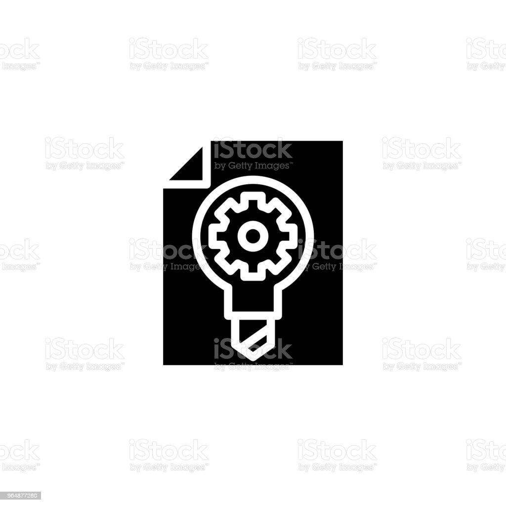 Research development plan black icon concept. Research development plan flat  vector symbol, sign, illustration. royalty-free research development plan black icon concept research development plan flat vector symbol sign illustration stock vector art & more images of no people