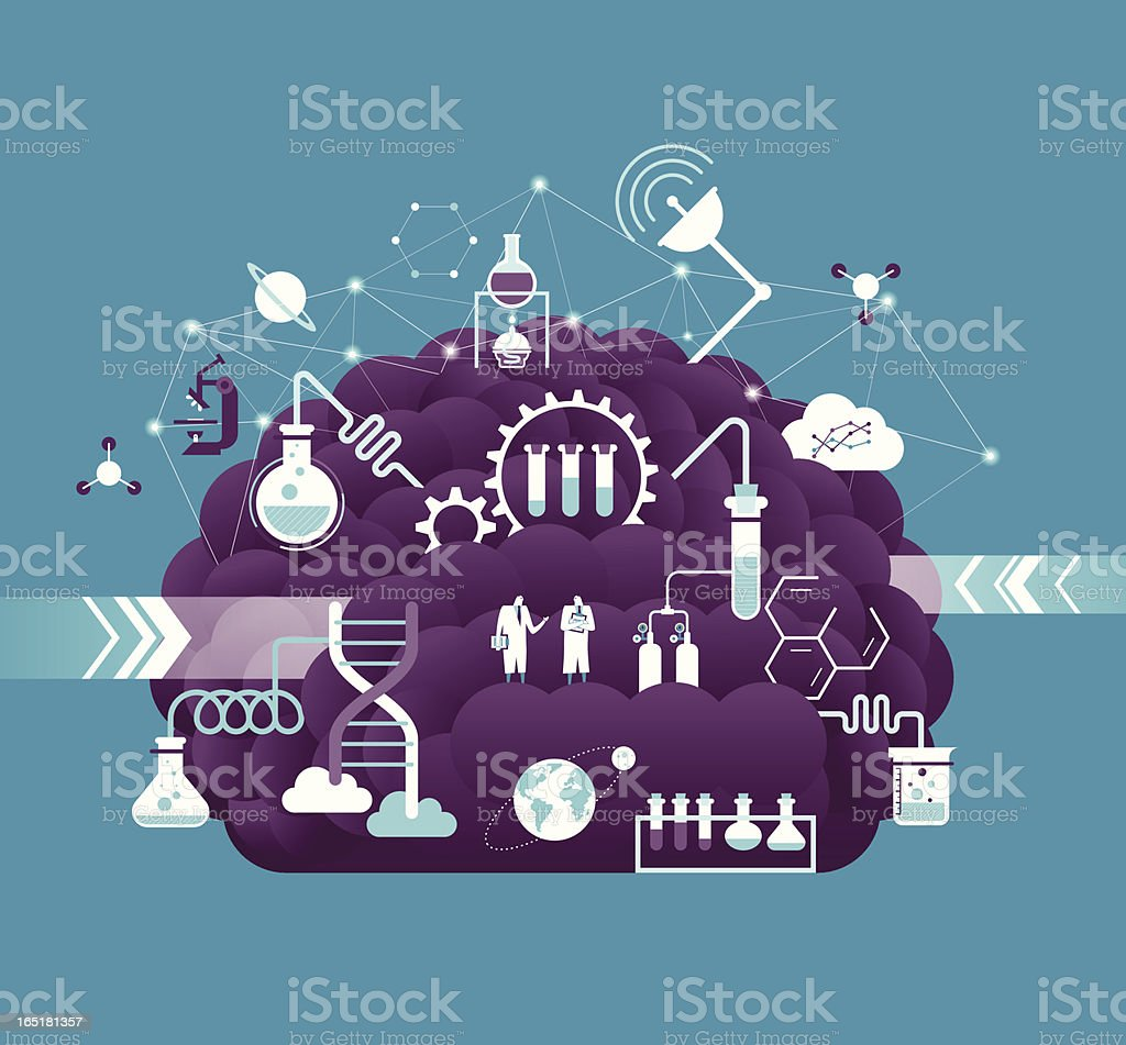 Research & development vector art illustration