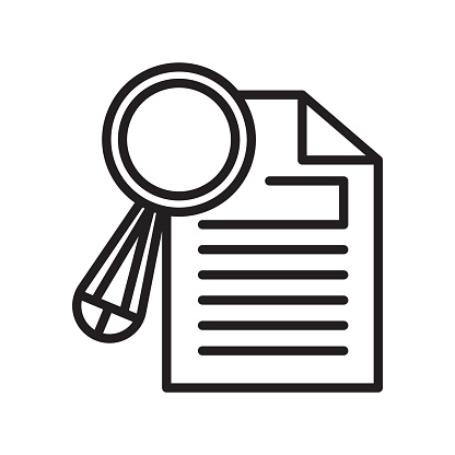 Research Icon Vector Sign And Symbol Isolated On White Background Research  Logo Concept Stock Illustration - Download Image Now - iStock