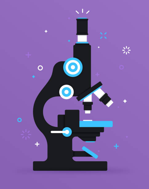 ilustrações, clipart, desenhos animados e ícones de microscópio de pesquisa - pesquisa médica