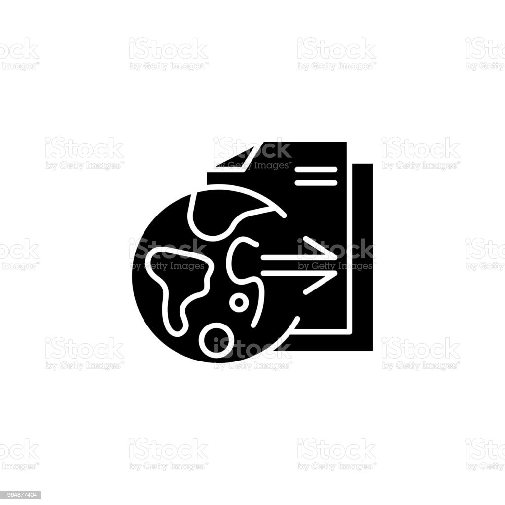 Research outcomes black icon concept. Research outcomes flat  vector symbol, sign, illustration. royalty-free research outcomes black icon concept research outcomes flat vector symbol sign illustration stock vector art & more images of no people