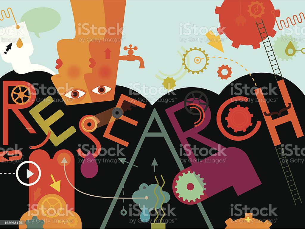 Research royalty-free stock vector art