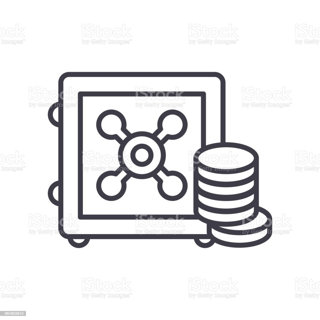 Reserve fund black icon concept. Reserve fund flat  vector symbol, sign, illustration. royalty-free reserve fund black icon concept reserve fund flat vector symbol sign illustration stock vector art & more images of bank