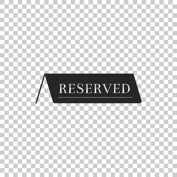 Reservados icono aislado sobre fondo transparente. Diseño plano. Ilustración de vector - ilustración de arte vectorial