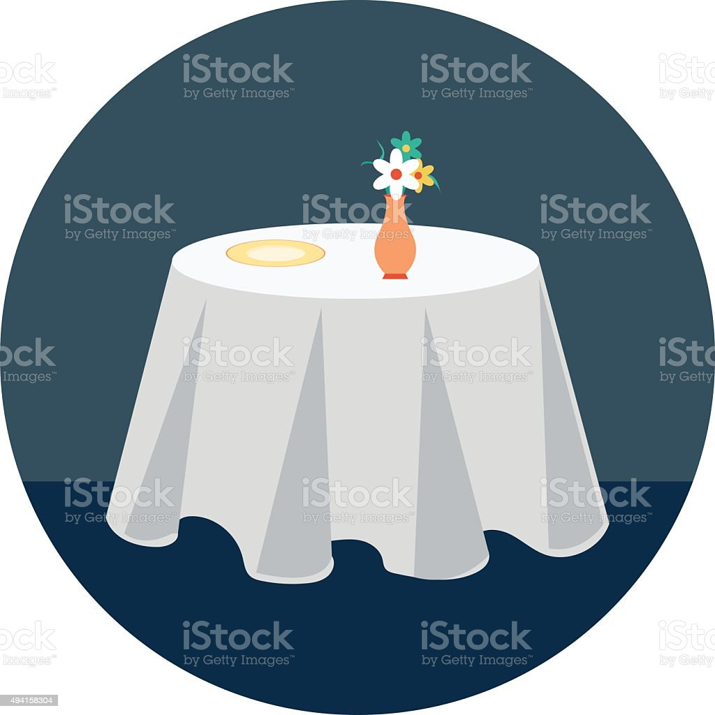Reserved Table Colored Vector Illustration vector art illustration