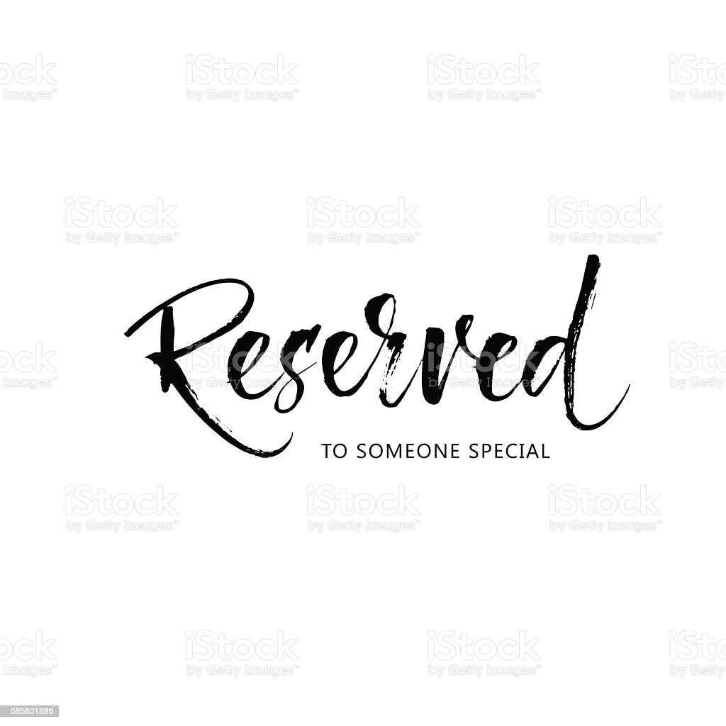 Reserved to someone special card. vector art illustration
