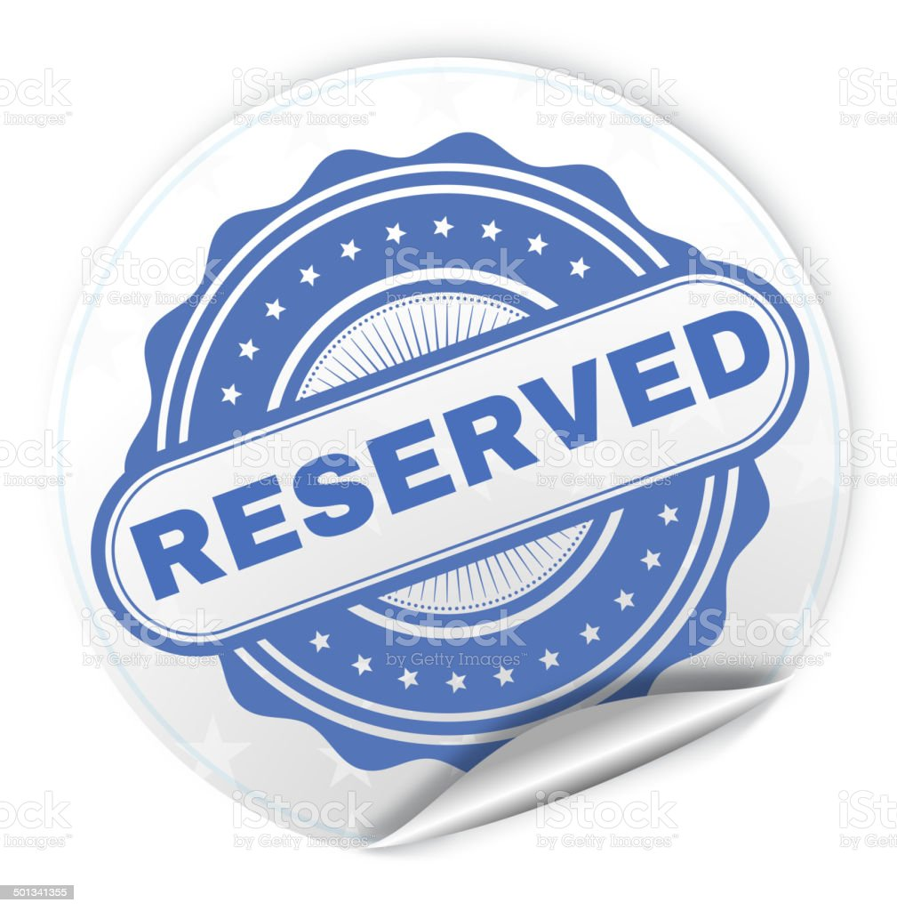 Reserved vector art illustration