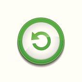 Reset Sign Circular Green Vector Button Icon